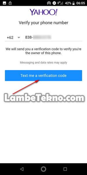 Nomor Hp Untuk Verifikasi Yahoo