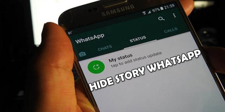 cara menyembunyikan status wa pada orang tertentu