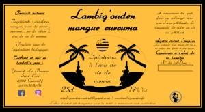 etiquette mangue curcuma eau de vie 25cl