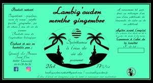 etiquette menthe gingembre eau de vie 25cl