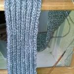 Cashmere Silk Scarf in German Rib Kit