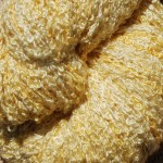 100% Silk Bouclé Yarn- Zinnia Yellow