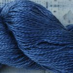 Hand-Dyed 100% Silk - Black-Blue Roan Yarn