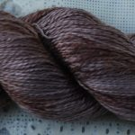 Hand-Dyed 100% Silk  - Seal Brown