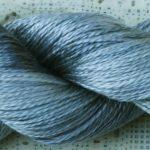 Hand-Dyed 100% Silk - Silver Dapple