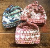 stranded colorwork hats