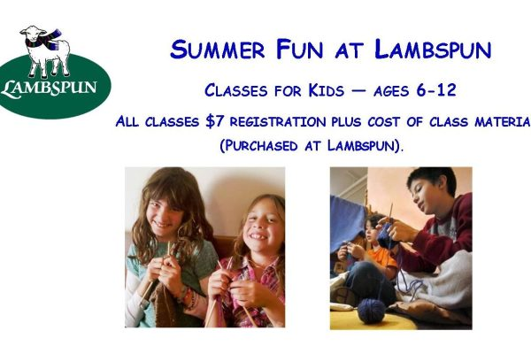 Summer Kids' Classes -- Sign Up Now!