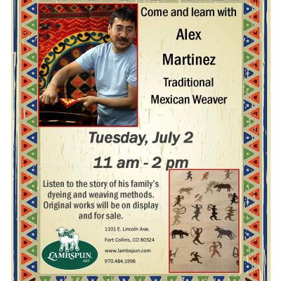 Come and Learn with Alex Martinez — Traditional Mexican Weaver!