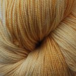 Superwash Sock Yarn - Frosty Sunflower with sparkle