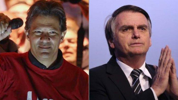 Fernando Haddad y Jair Bolsonaro