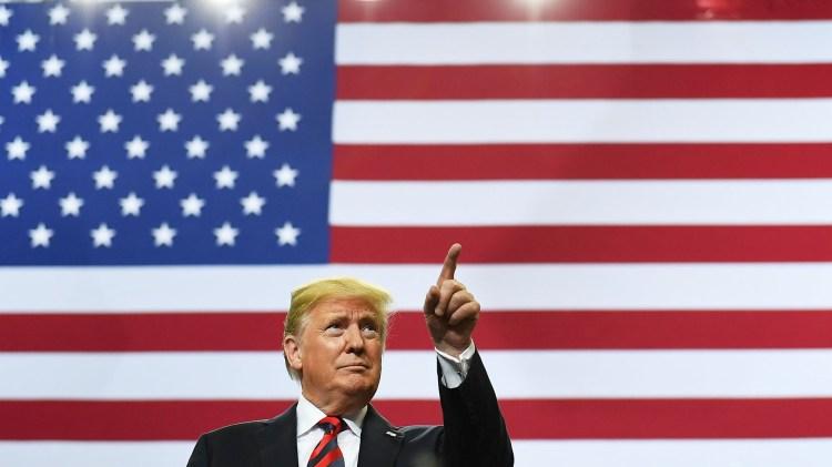 Así luce realmente la bandera de Estados Unidos (AFP)