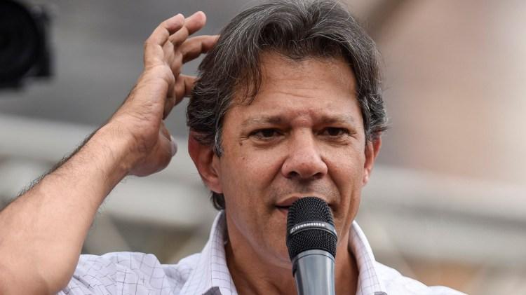 Fernando Haddad, candidato a presidente de Brasil por el Partido de los Trabajadores (AFP)