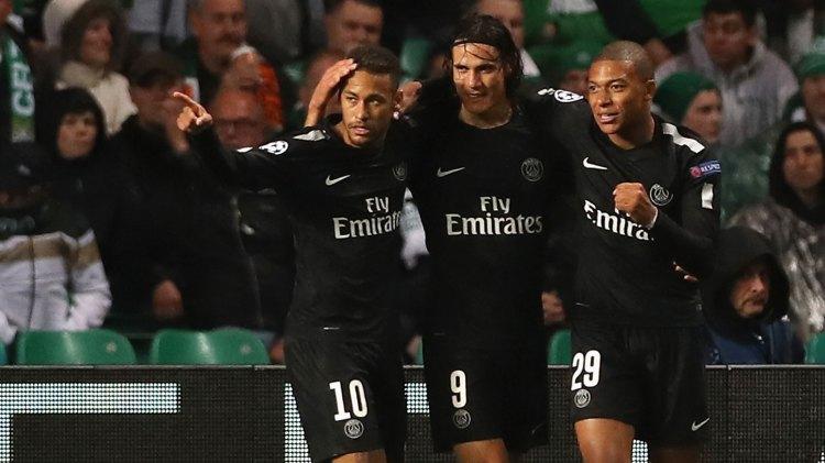 Neymar, Cavani y Mbappé conforman una de las mejores delanteras de Europa (Getty Images)