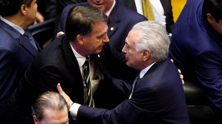 Jair Bolsonaro y Michel Temer (Reuters)