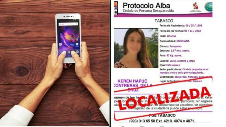 Joven mexicana desapareció pero su historia no convenció a las autoridades mexicanas. (Fotos: Twitter UIDIFGETabasco)