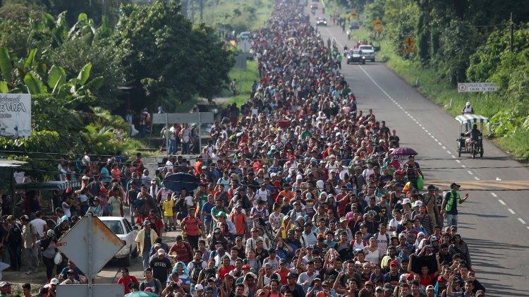 La caravana migrante en México (Foto: Reuters)