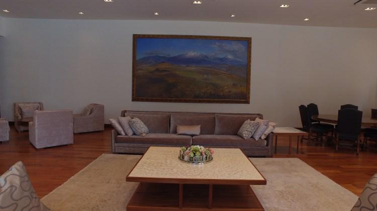La sala de reuniones en la casa que habitó Miguel Alemán Foto: Juan Vicente Manrique