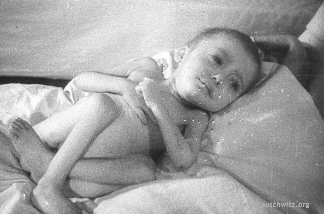 Bambino liberato ad Auschwitz