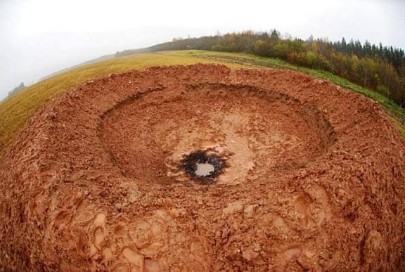 El crater de Letonia
