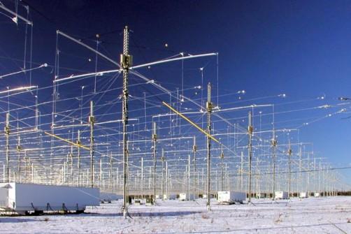La matriz de antenas de HAARP