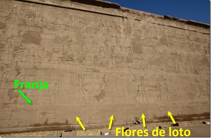 Pared templo edfu