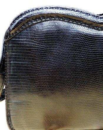 Bolso de lagarto 50's con forma de Corazón