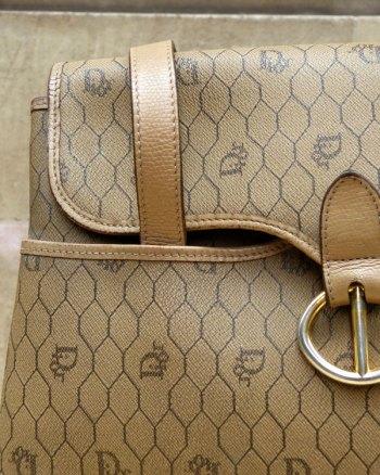 Bolso de Dior 80's en tejido monograma y detalles en piel
