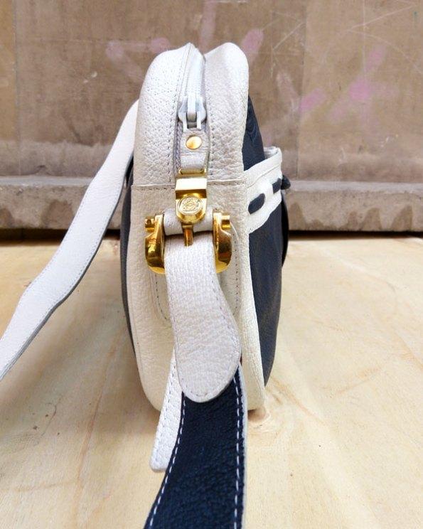 Bolso Marinero Loewe en piel azul y blanco
