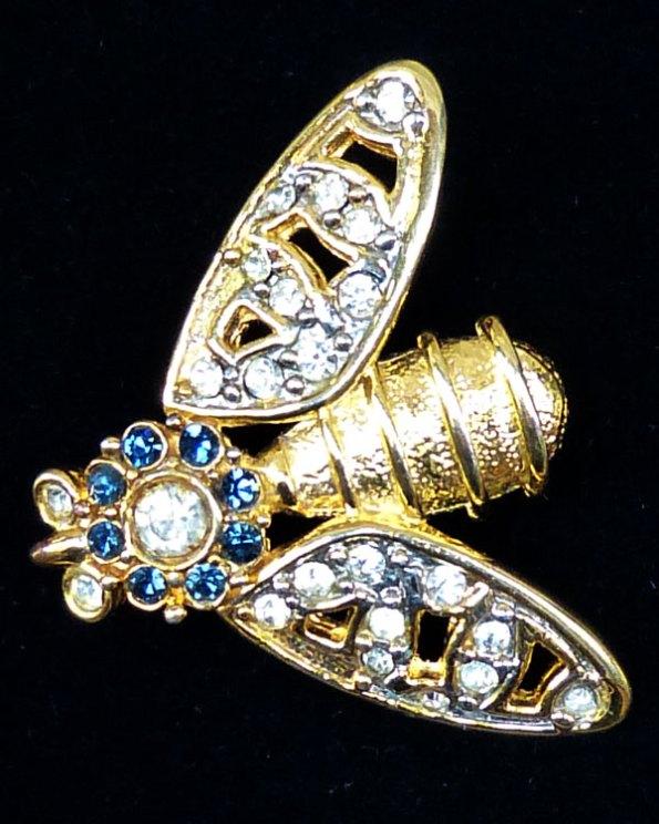 Broche Abejorro con incrustaciones de cristal