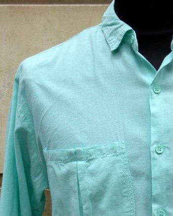 Camisa Verde Menta 80's