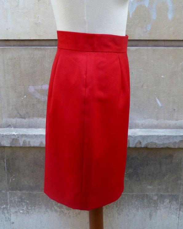 Falda de Moschino Couture Rojo Bermellón