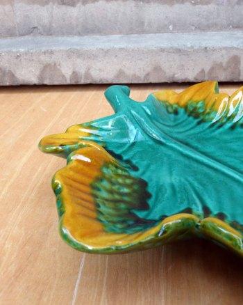Big Green Vallauris Ceramic Leaf
