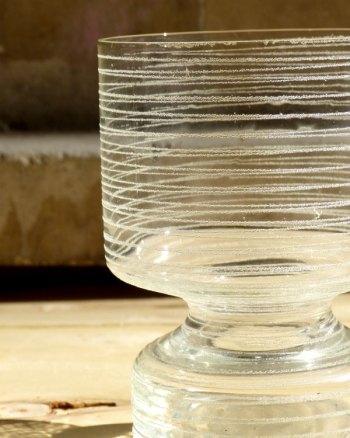 Jarrón 60s de cristal soplado con textura