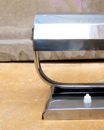 Lámpara de despacho Art-Decó al estilo banquero