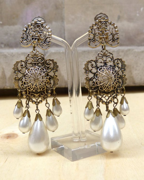 """Pendientes """"Rococó"""" con perlas"""
