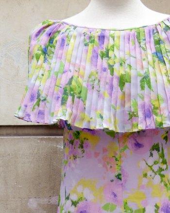 1960s Floral Maxi Dress by L'Escarpolette