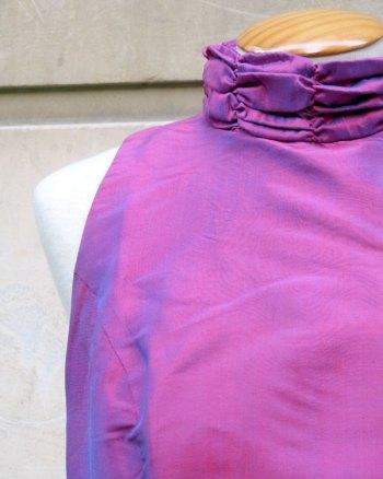 Two Tone Silk Long Dress