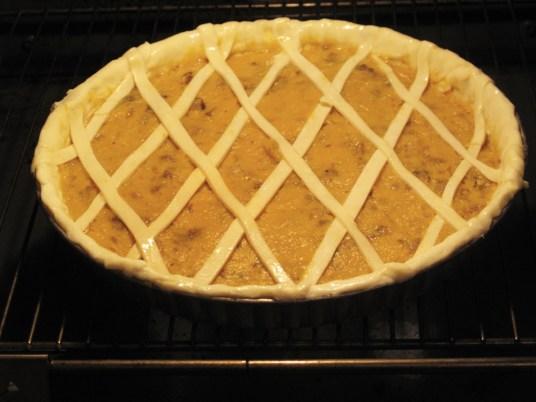 Torta salata di zucca, cottura in forno