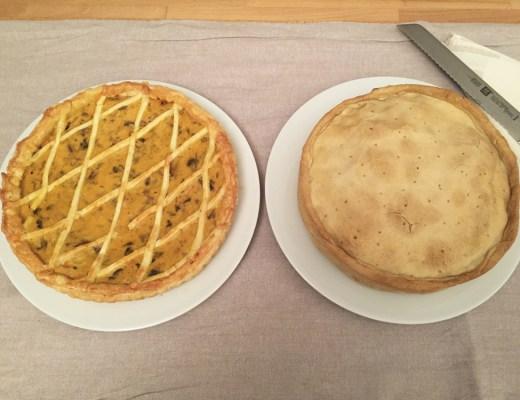 Torta salata di carciofi e torta salata di zucca