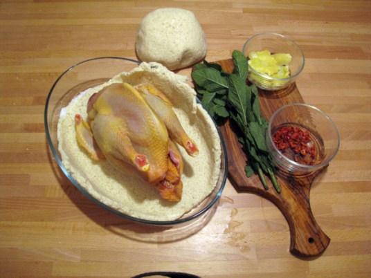 Pollo in crosta con menta e limone, ripieno