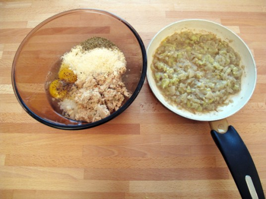 Zucchine ripiene alla ligure, preparazione del ripieno