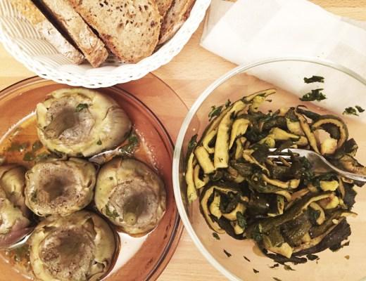 Concia di zucchine e mammole alla romana