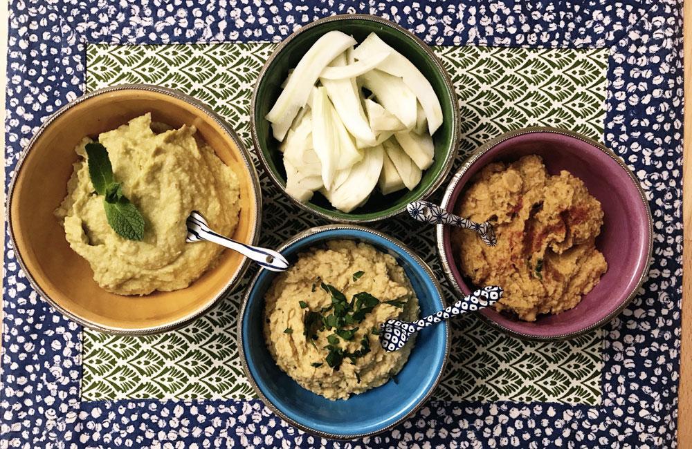 Ricetta Hummus Avocado.Tris Di Hummus Con Ceci Avocado E Pomodori Secchi