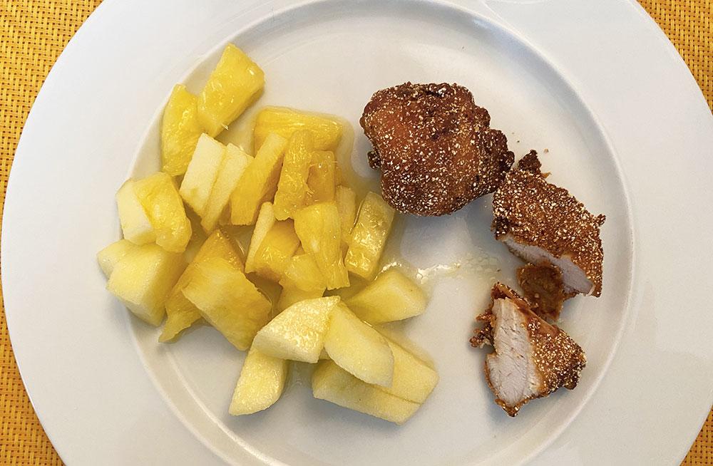 Bocconcini di pollo fritto allo zenzero