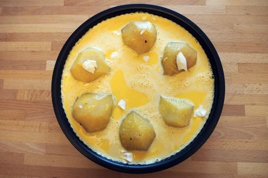 Torta di pere e crema