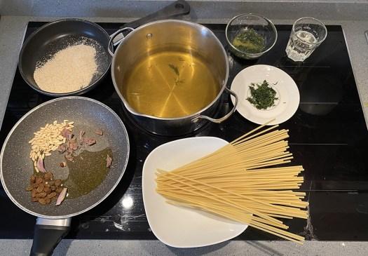 Bucatini alla siciliana con finocchietto selvatico
