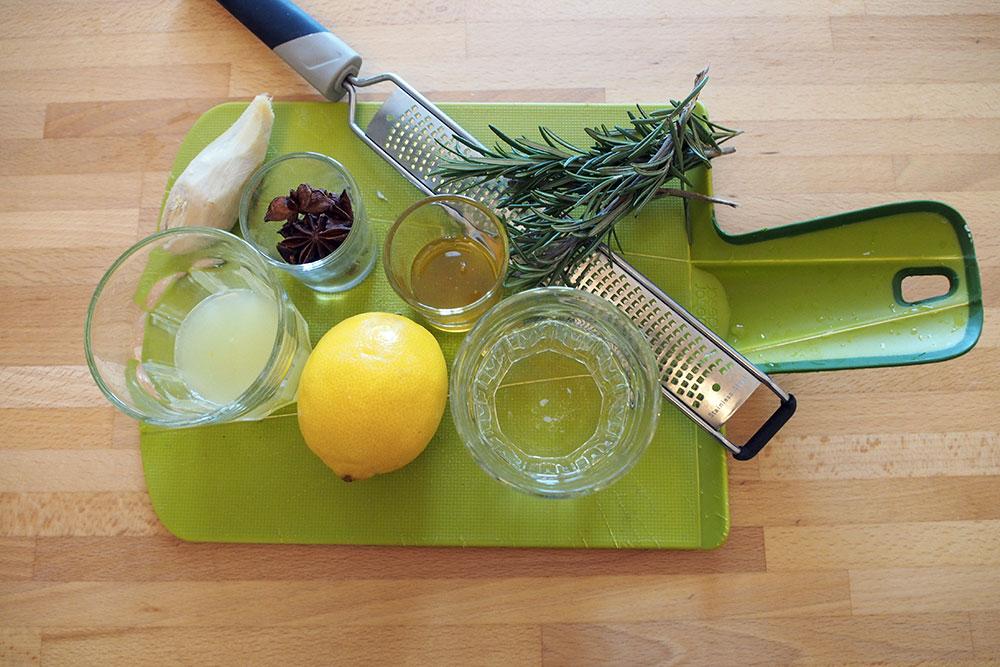 zenzero, limone, anice, miele