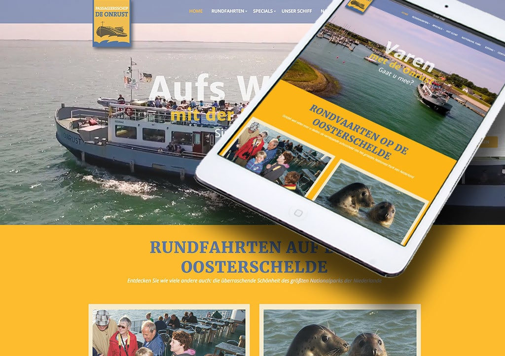 Website de Onrust door La Dolce Vita Marketing en webdesign uit Zeeland
