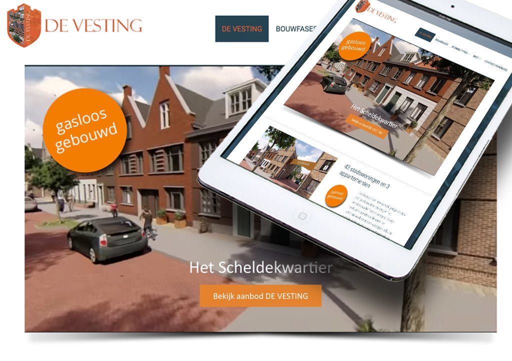 website De Vesting door La Dolce Vita Marketing en webdesign uit Zeeland