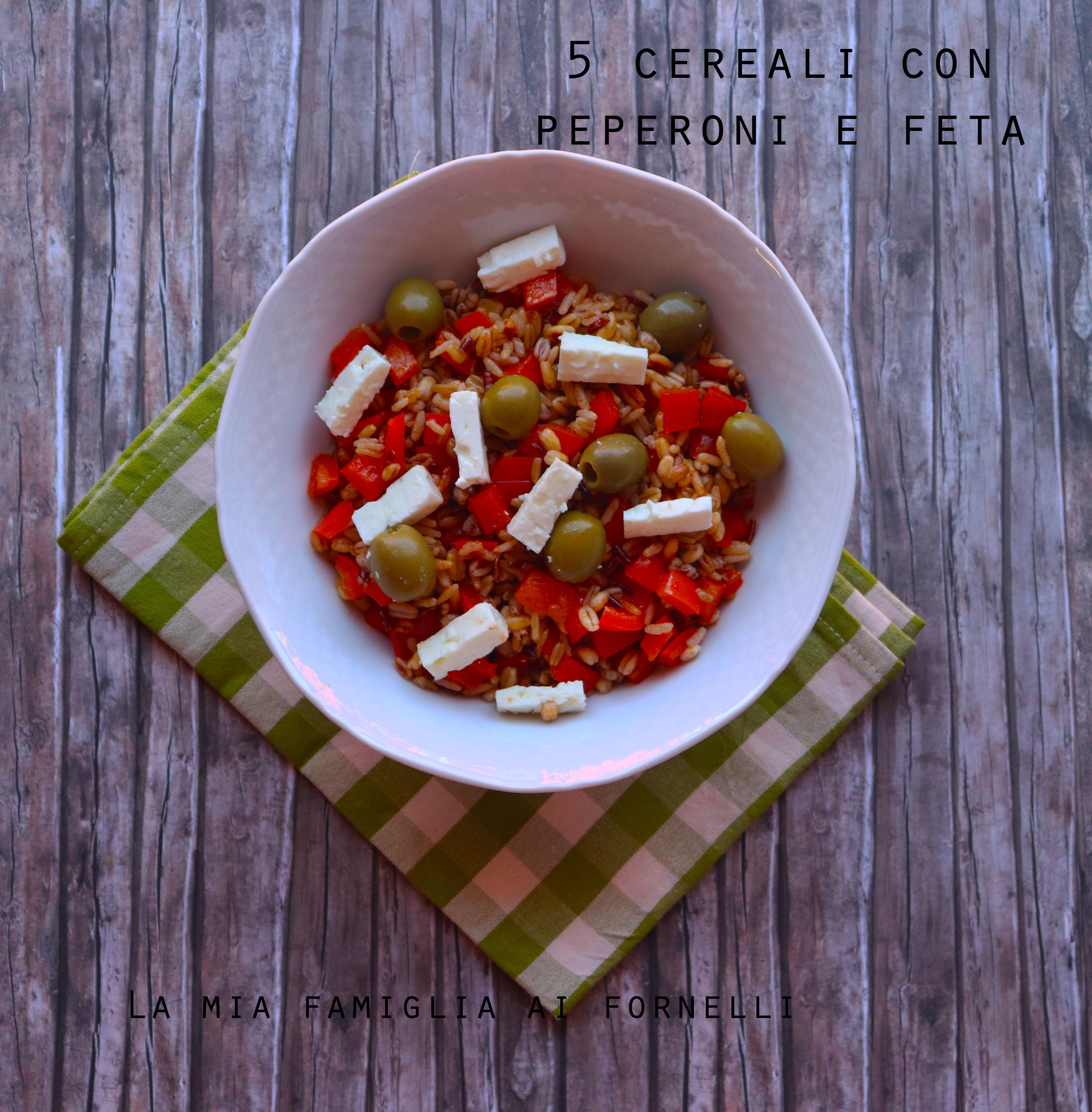 5 cereali con peperoni e feta
